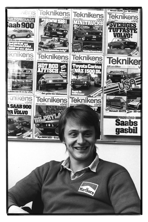 Eje Elgh på Teknikens Världs redaktion, 1978.