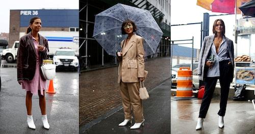 Vitt är garanterat höstens it-färg när det kommer till skor. Här från New York Fashion Week.
