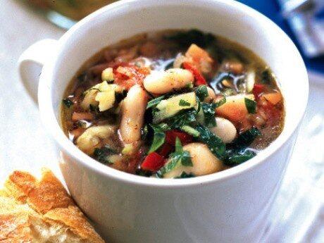Texmexsoppa med grönsaker och bönor