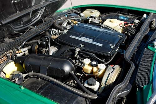 Ekonomiavdelningen tyckte att man kunde använda en befintlig fyrcylindriga radmotorn men då sa exportavdelningen stopp, Montreal borde få en V8-motor.
