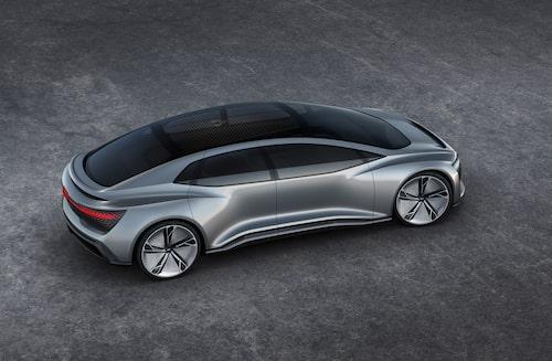 Elektriska och självkörande konceptbilen Aicon presenterade Audi i september 2017.