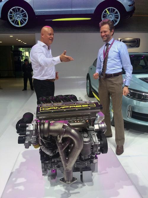 Christian von Koenigsegg, som inte behöver någon närmare presentation, och Urban Carlsson, vd för Koenigsegg systerföretag FreeValve AB.