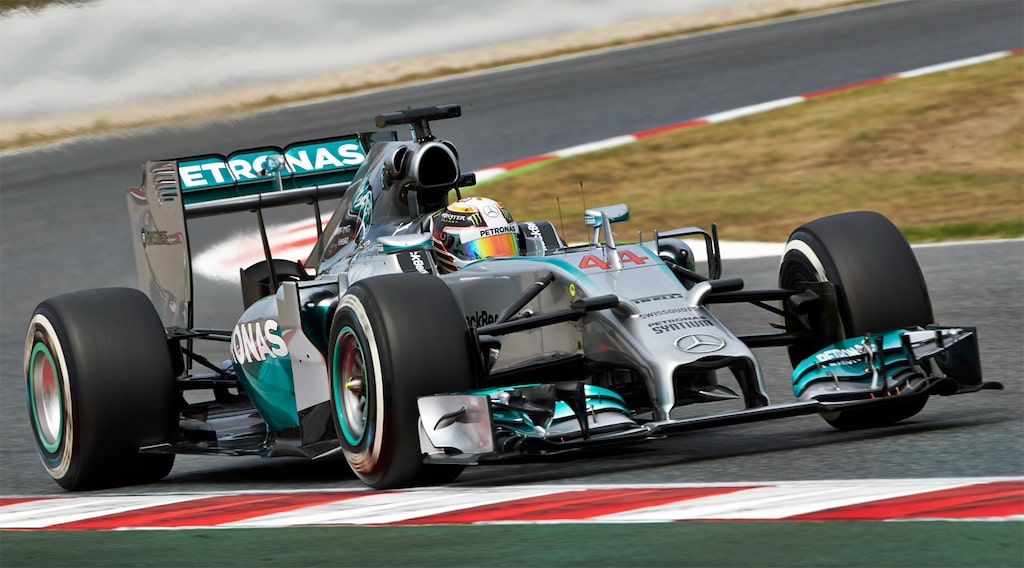 Hamilton vann i Barcelona