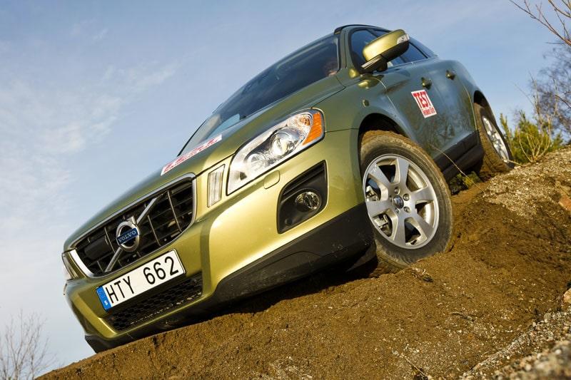 Volvo XC60 får bekänna färg under ett av våra tester.