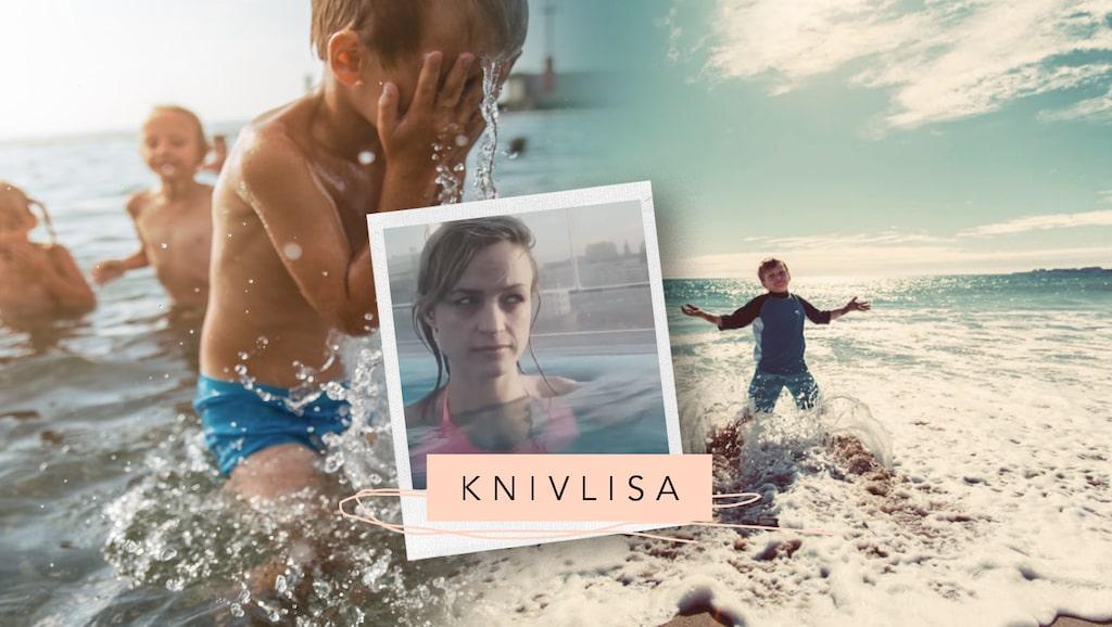 Att åka och bada före och efter barn är helt olika grejer, intygar mamas bloggare Knivlisa.