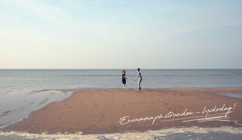 Det går inte att koppla av när man har med sig barn till stranden.