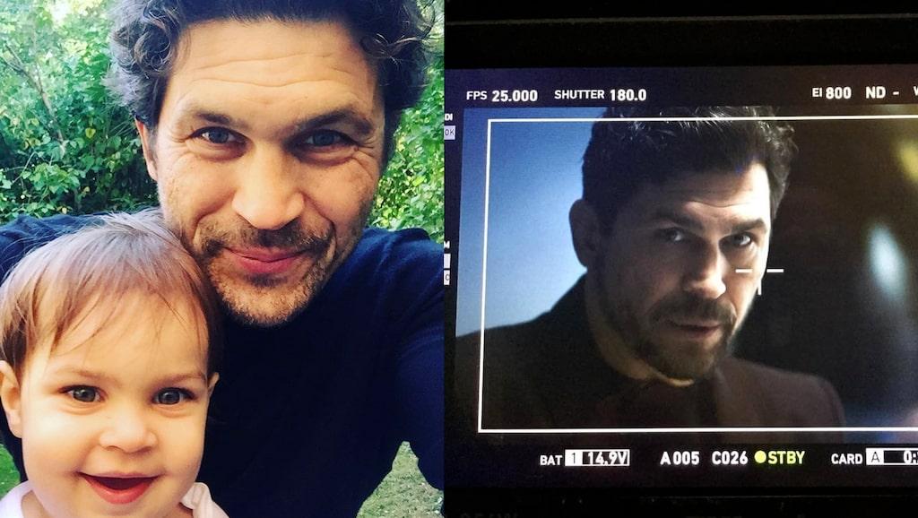 """Christian Svensson spelar Barry i """"Gåsmamman"""". Här med dottern Wilhelmina."""