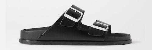 Sandaler 2021: sandaler med metallspänne för dam.