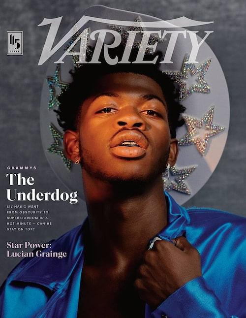 Lil Nas X på omslaget av Variety stylat av Hodo Musa.