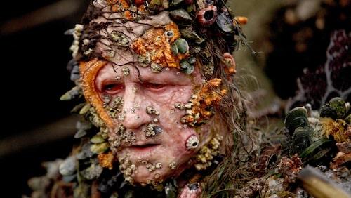 Stellan Skarsgård som rollfiguren Bootstrap Bill i Pirates of the Caribbean-filmerna.