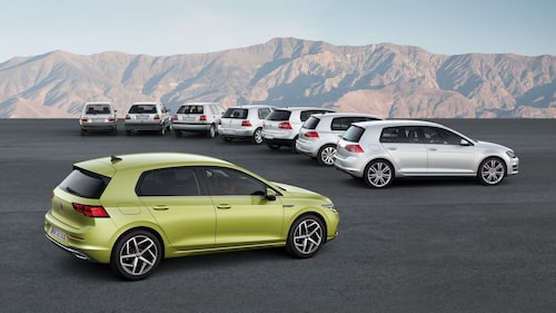 Volkswagen Golf 2020 vs gamla Golf 1974-2019