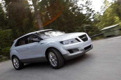 Saab 9-4X, 2011. Produktionsversionen var från början tänkt att tillverkas från och med i höstas men så blev det inte. Nu lär den aldrig bli av, tyvärr.
