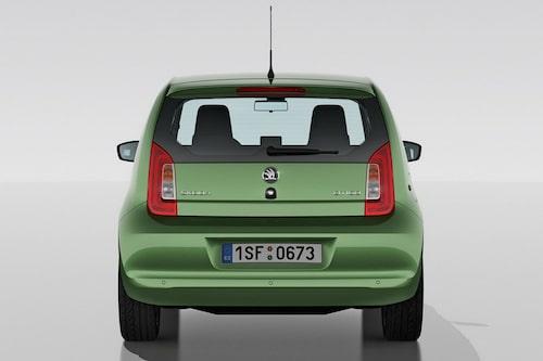 Bakljusen bär tydliga likheter med Volkswagen Up.