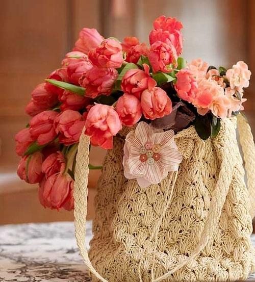 Tulpaner i väska