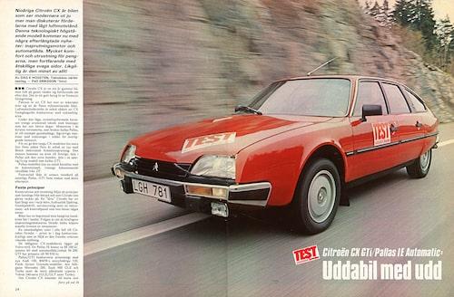 Citroen CX testats i Teknikens Värld nummer 13/1983.