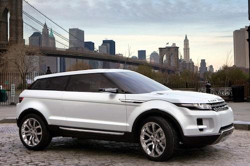 Kompakta Range Rover LRX som ska visas produktionsfärdig i Paris i höst.