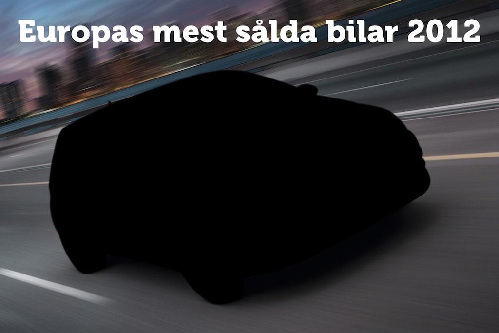 Europas mest sålda bilar 2012