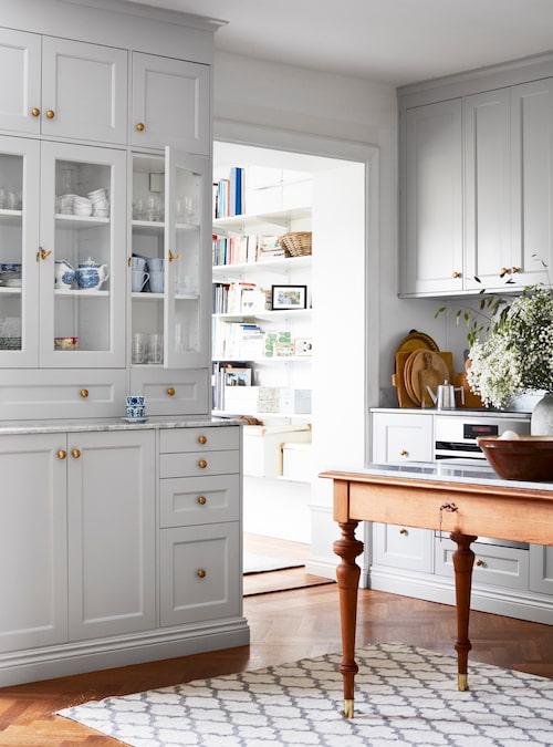 Charlotta och Jimmy ritade köket själva med hjälp av Ikeas planeringsverktyg.