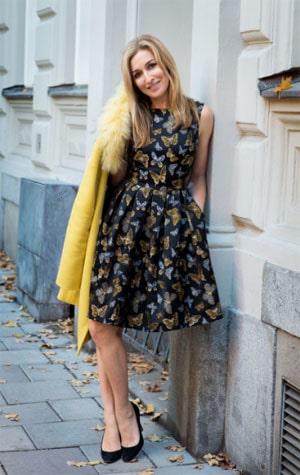 Klänning från Maria Westerlind.