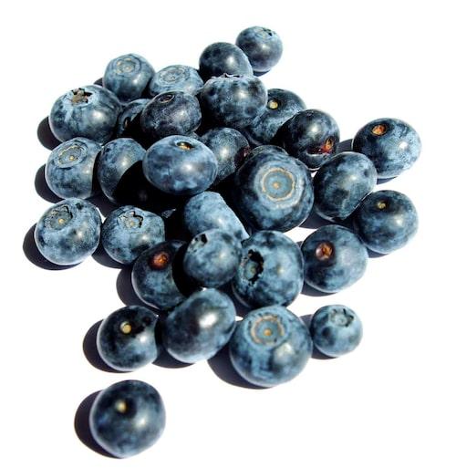 Det är olika sorter av amerikanska blåbär som man odlar i trädgården. De varierar i smak och storlek, så testa dig fram.
