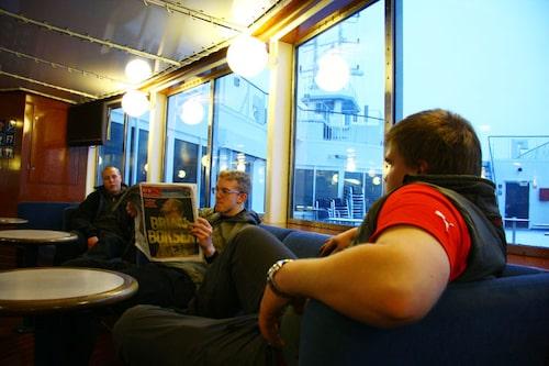 Under tiden vi satt och vilade på tysklandsfärjans passagerardäck...