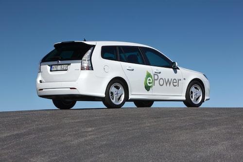 Saab 9-3 ePower från 2010.