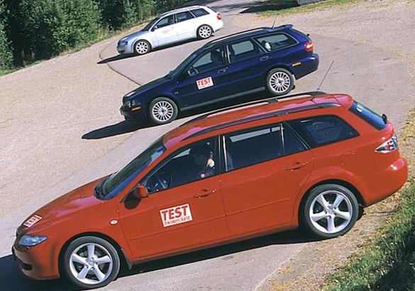 Mazda 6, Volvo V40 och Audi A4