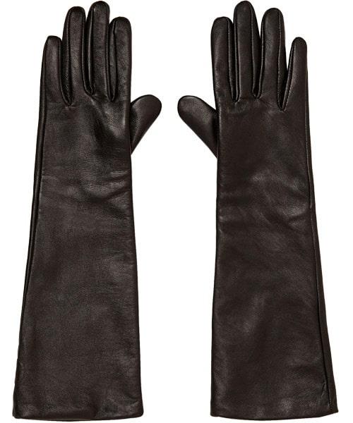 Långa handskar i läder, 499 kr, Zara