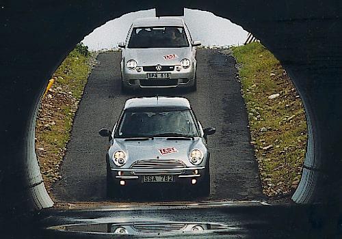 Mini Cooper och Volkswagen Lupo GTI