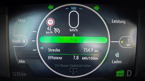 754,9 kilometer är långt, med en elbil... men så var körningen också utförd på ett vis som inte vem som helst orkar med.
