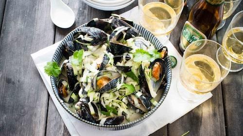 Recept på asiatiska musslor