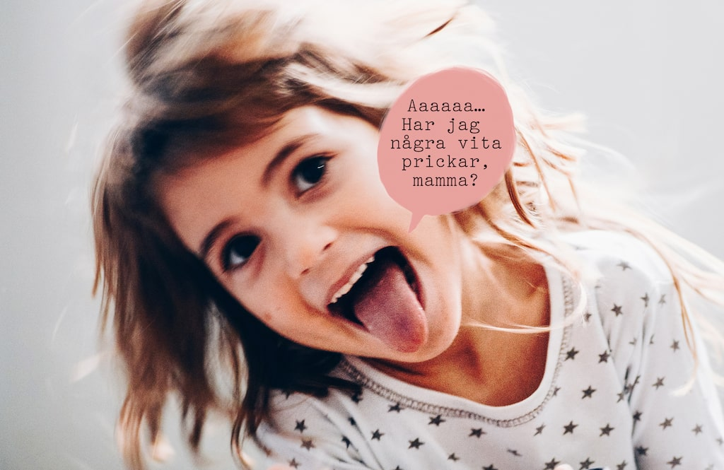 Man kan ju hoppas att barnet är så här glatt trots halsfluss…