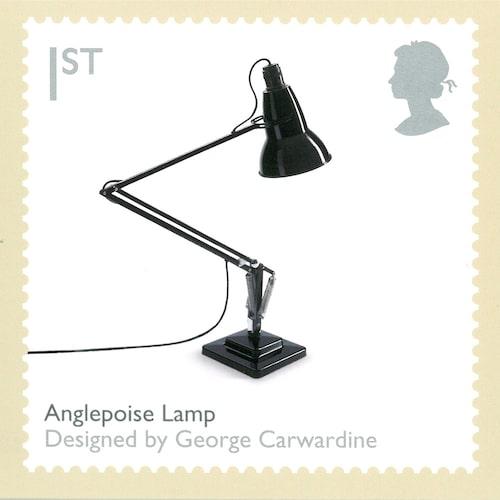 Anglepoise hyllad på engelskt frimärke, 2009.