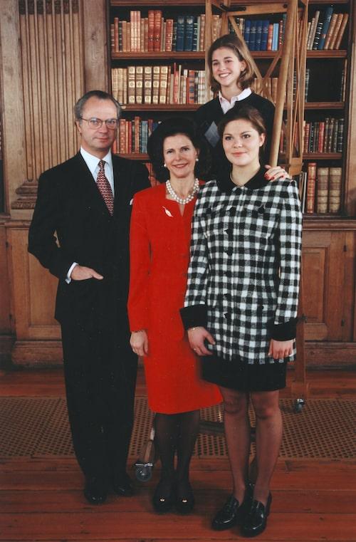 Kungafamiljen firar jul under 90-talet.