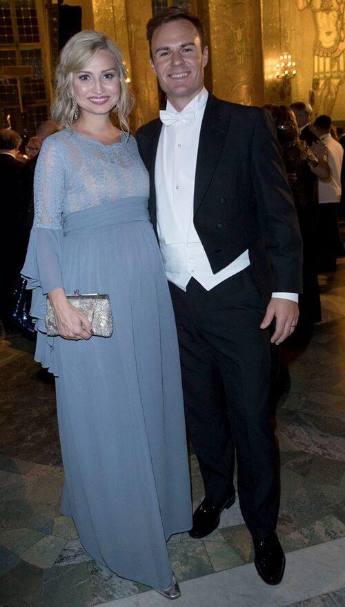 Ebba Busch Thor, partiledare för Kristdemokraterna, med maken Niklas.