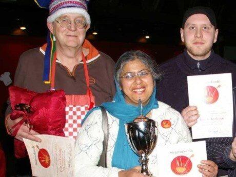 <p>Lothar H. Hoffman, Nirmal Singh Hanspal och Jan Kemmler, som vann i andra t&auml;vlingsklasser. </p>