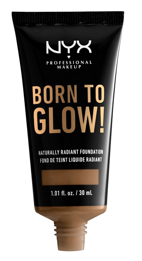 Born to glow naturally radiant foundation från NYX professionals.