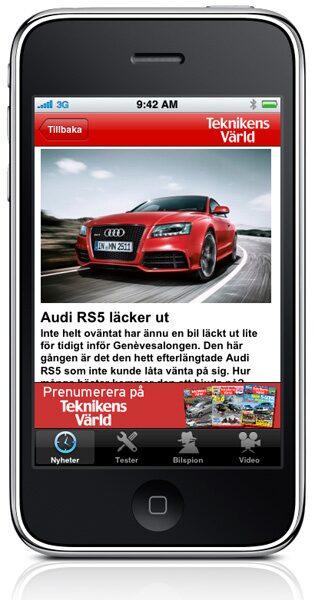 Allt om nya bilar och mycket mer direkt i din iPhone eller iPod.