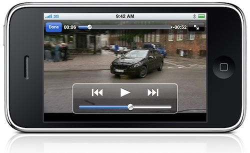 Häftigast av allt... spela upp våra filmklipp från TV-TV direkt på skärmen.