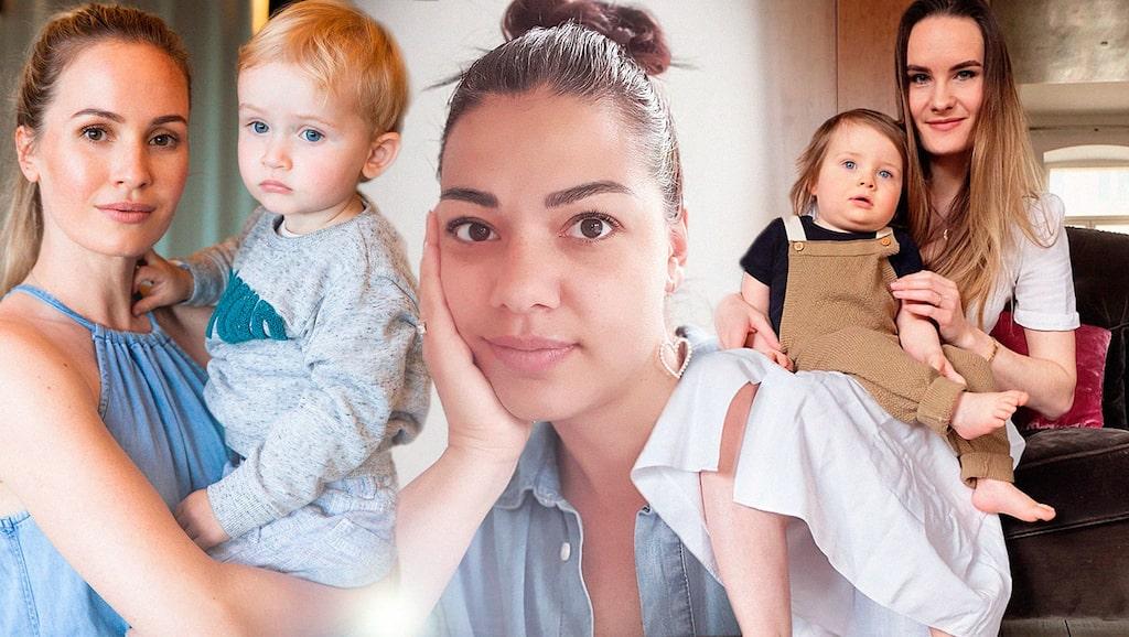 Tess Montgomery, Carin da Silva och Olga Ringquist är några av mammorna som berättar hur corona påverkar deras vardag i utlandet.