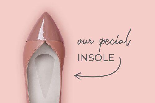 Tack vare den smarta sulan blir skorna extra bekväma.
