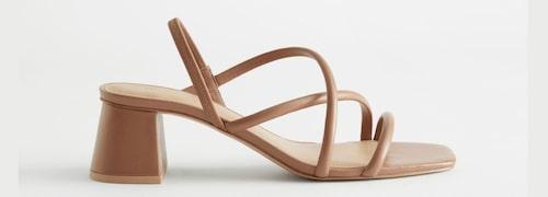 Beige sandaletter för dam sommaren 2021.