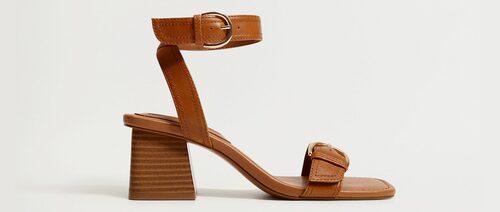 Bruna sandaletter för dam sommaren 2021.