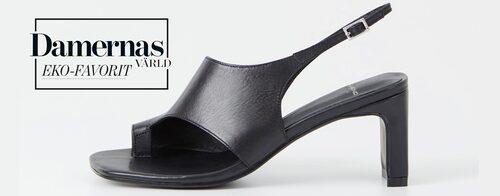 Svarta sandaletter för dam sommaren 2021.