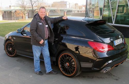 PeO Kjellström tog sig en snabbresa till Frankfurt och föll pladask för CLA Shooting Brake, helst i AMG-dress.