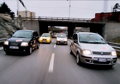 Daewoo Matiz City, Fiat Panda Dynamic 1,2, Hyundai Atos Prime GLS och Suzuki Alto GL