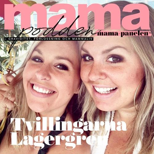 Tvillingsystrarna Angelica och Jessica Lagergren.