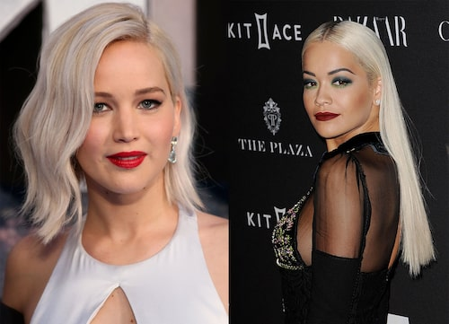 Jennifer Lawrence och Rita Ora