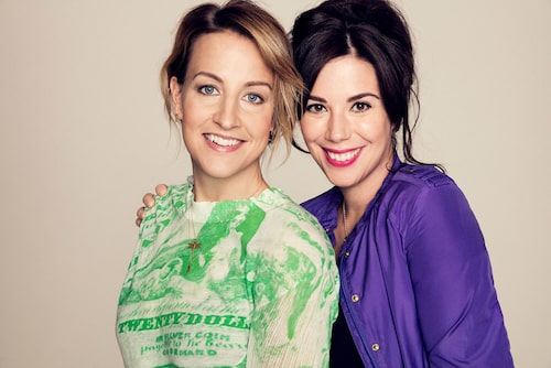 Therese Krupa Syllner och Sofia Falk skriver både blogg och böcker ihop.