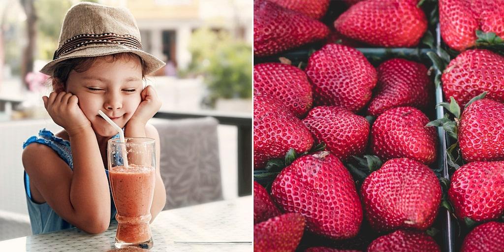 Slush med jordgubbar